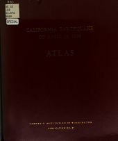 The California Earthquake of April 18, 1906: Report of the State Earthquake Investigation Commission, in Two Volumes and Atlas, Issue 87, Part 1
