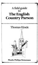 A Field Guide to the English Country Parson