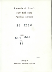 Supreme Court of the State of New York Appellate Division First Department