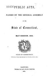 Public Acts, Passed by the General Assembly of the State of Connecticut: Volume 1