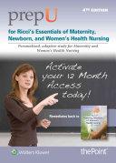 Prepu for Ricci s Essentials of Maternity  Newborn  and Women s Health Nursing   12 Month Access Card PDF