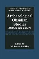 Archaeological Obsidian Studies PDF