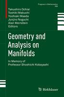 Geometry and Analysis on Manifolds PDF