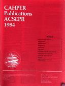 CAHPER Journal