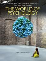 The World of Psychology  Eighth Canadian Edition  PDF