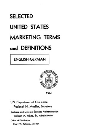 Selected United States Marketing Terms and Definitions