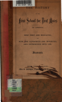 The History of the first school for deaf mutes of America PDF