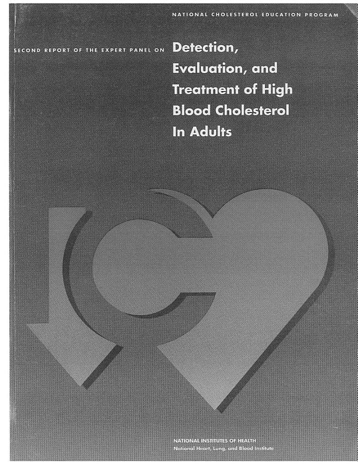 Second Report of the Expert Panel on Detection, Evaluation, and Treatment of High Blood Cholesterol in Adults