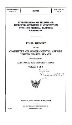 Investigation of Illegal Or Improper Activities in Connection with 1996 Federal Election Campaign PDF