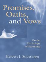 Promises  Oaths  and Vows PDF