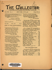 The Collector: A Monthly Magazine for Autograph and Historical Collectors, Volume 19, Issue 8