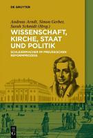 Wissenschaft  Kirche  Staat und Politik PDF