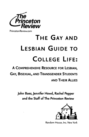 The Gay and Lesbian Guide to College Life PDF