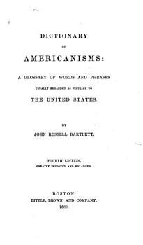 Dictionary of Americanisms PDF