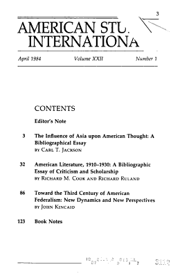 American Studies International PDF