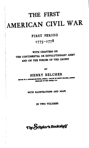 The First American Civil War