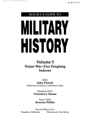 Magill s Guide to Military History