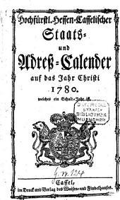 Hochfürstl.-Hessen-Casselischer Staats- und Adreß-Calender: 1780