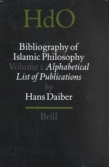 Bibliography of Islamic Philosophy PDF
