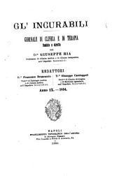 Gl'Incurabili giornale di medicina e chirurgia