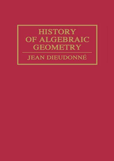 History Algebraic Geometry PDF