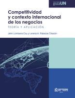 Competitividad y contexto internacional de los negocios PDF