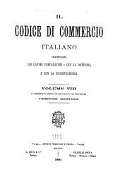 Il Codice di commercio italiano: Volume 8