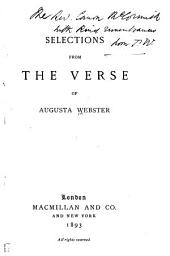 Selections from the Verse of Augusta Webster