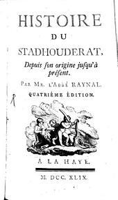 Histoire de Stadhouderat