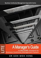 A Manager s Guide to ISO 22301 Standard for Business Continuity Management System  LITE  PDF