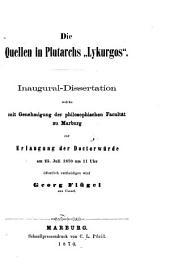 """Die Quellen in Plutarchs """"Lykurgos"""""""