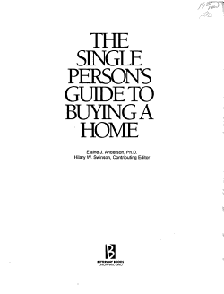 The Single Person s Guide to Buying a Home PDF