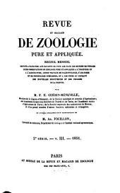 Revue et magasin de zoologie pure et appliquée: Volume3
