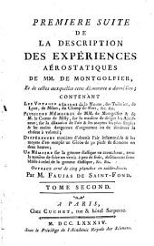 Description des expériences de la machine aérostatique de MM. de Montgolfier: Volume2