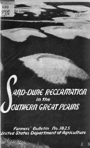 Sand dune Reclamation in the Southern Great Plains PDF