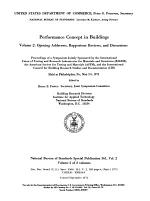 Performance Concept in Buildings: Opening addresses, rapporteur reviews, and discussions