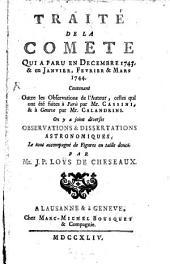 Traité de la Comete ... 1743