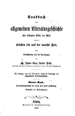 Bd  Der Literaturgeschichte der neuern Zeit zweite Abtheilung Geschichte der Wissenschaften   1  Ausg PDF