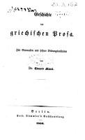Geschichte der griechischen Literatur f  r Gymnasien und h  here Bildungsanstalten PDF