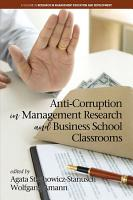 Anti Corruption in Management Research and Business School Classrooms PDF