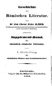 Die christlichen Dichter und Geschichtschreiber Roms: eine literärhistorische Uebersicht, Band 1