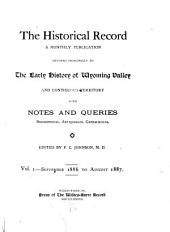The Historical Record: Volume 1