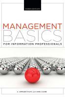 Management Basics for Information Professionals  Third Edition PDF