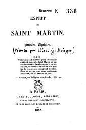 Esprit de Saint-Martin, pensées choisies