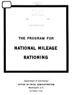 THE PROGRAM FOR NATIONAL MILEAGE RATIONING