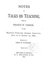 Notes of Talks on Teaching