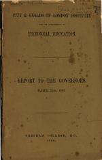 Report of the Council to the Members of the Intitute