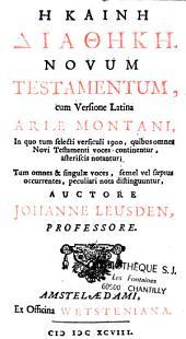 Novum testamentum cum versione latina