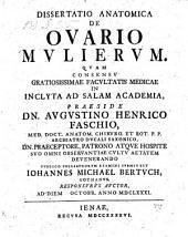 De Ovario Mulierum. Dissertatio Anatomica. Recusa