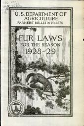 Fur laws for the season 1928-29: Volumes 1576-1600